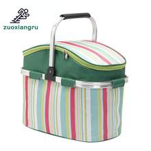 26l Picnic Basket Camping Refrigerator Bag Beer Ice Cooler Thermo Tourism Equipment Outdoor Beach Recreation Picnic Handbag(China)