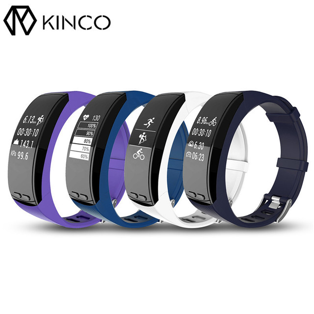 KINCO OLED GPS Activity Tracker Pedometer Calorie Burning Heart Rate Sleep Monitor Smart Wristband Bracelet for IOS/Android