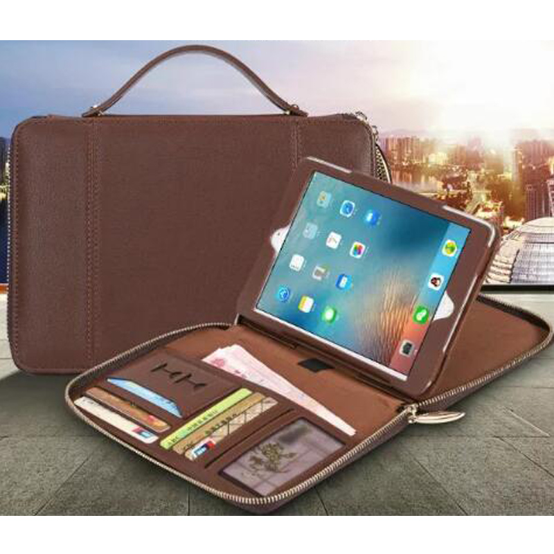 for ipad air 1 2 High Quality Leather Tablets Cover Case for ipad 5 6 Wallet Style Stand Tablet Sleeve Portable Handle Bag high quality 10 25 4cm colorful hard netbook laptop sleeve case bag for ipad 2 3 4 5 6 sleeve bag