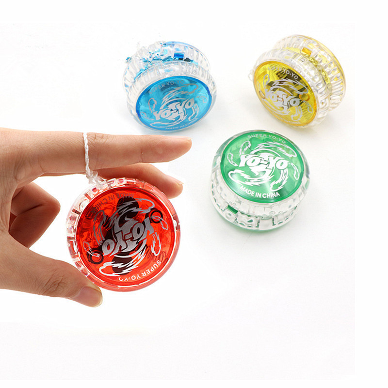 New Led Flashing Yoyo Classic Kids Toys Professional Magic Yoyo Spin Aluminum Alloy Metal Yoyo Bearing With Spinning String