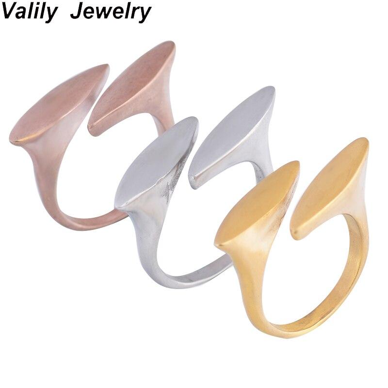 EdgLifU Femmes Anneau Nouvelle Arrivée Simple Mat Or-Tone Ovale de Forme Conception Ronde Anneaux Pour Femme En Acier Inoxydable anneau