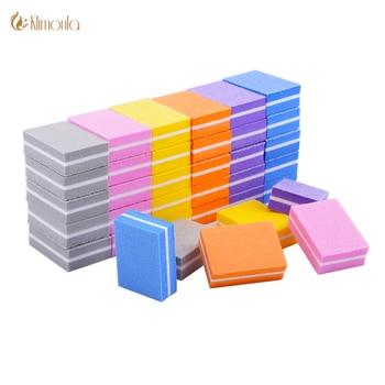 20pcs/lot Double-sided Mini Nail File Blocks Colorful Sponge Nail Polish  6