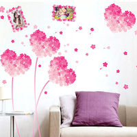Quote In The Season Of DIY Wall Sticker For Bedroom Colorful PVC Gradient Love Heart Photo