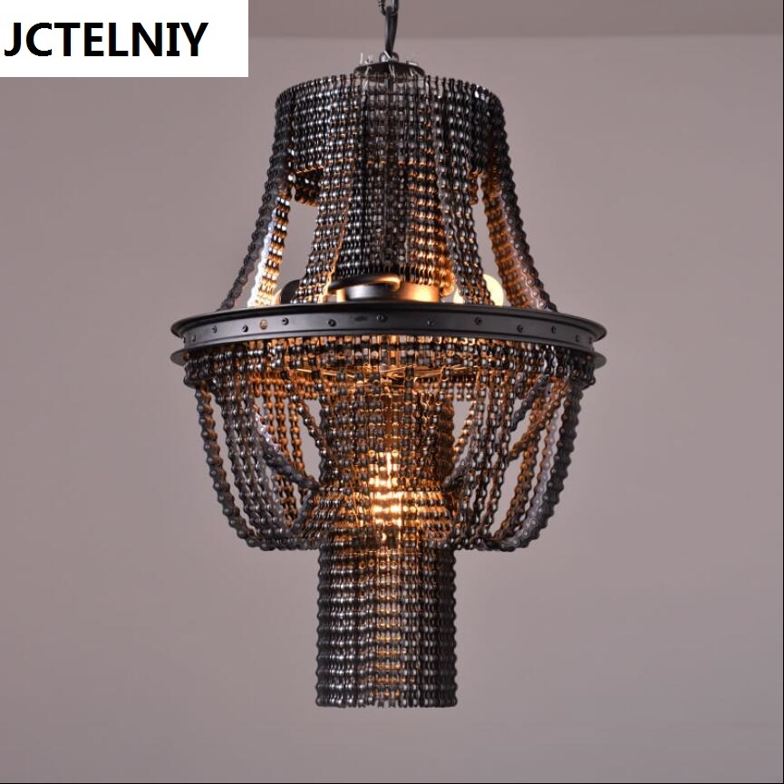 Loft creative personality retro industrial heavy metal bar The cafe bicycle chain pendant lamp retro cafe bar long spider lamp loft light industrial creative office the heavenly maids scatter blossoms chandelier