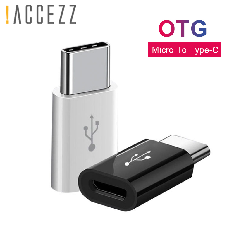 !ACCEZZ Mini USB OTG Adapter Type C To Micro USB For Samsung Galaxy S8 Type-C Converter For One Plus 5 For LG G5 G6 Xiaomi Mi5 6