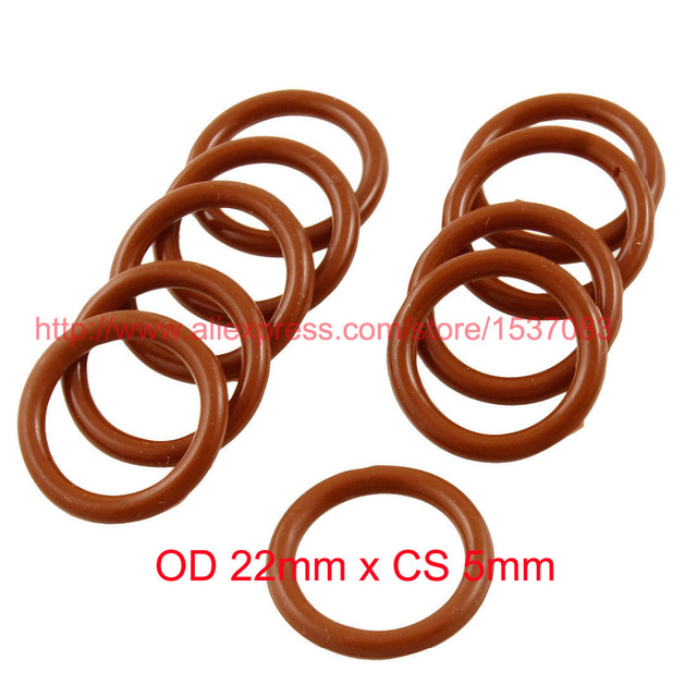 OD 22mm x CS 5mm red rubber o ring o rings silicone washer-in ...