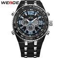 WEIDE New Brand Fashion Men Sports Watches Men's Quartz LCD Dual Movement Big Dial Analog Digital Display 3ATM Waterproof Watch