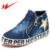 DOUBLE STAR Sapatas Dos Miúdos Crianças Sapatos Confortáveis Para Meninos E Meninas Zíper Lateral Esportes Ao Ar Livre Respirável Sapatos de Caminhada Da Sapatilha