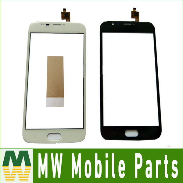 High Quality 1PC/ Lot For Doogee X9 Mini Sensor Black White Color Touch Screen Digitizer Replacement Part with tape