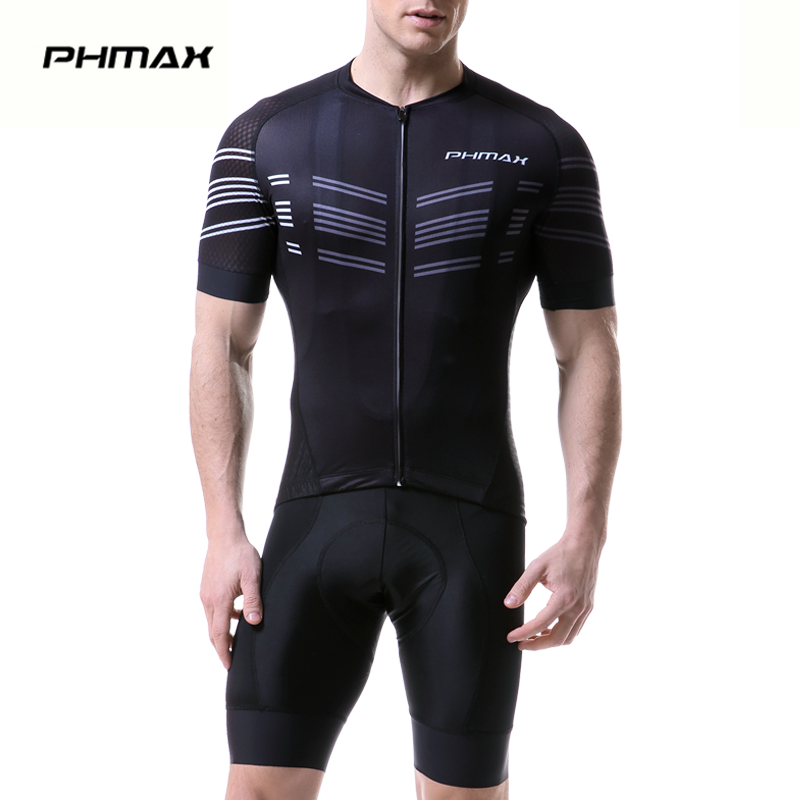 цены PHMAX 2018 Pro Cycling Clothing MTB Bicycle Clothes Maillot Ropa Ciclista Bike Sportswear Mens Ciclismo Cycling Jerseys Set
