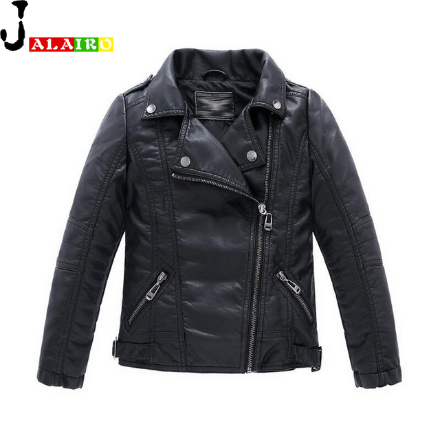 Spring Girls Boys Leather Jacket Kids Girls Coat Jackets Children Kids Leather Jackets Boys Autumn Children Outerwear for 3-14Y