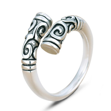 The new Thai silver ring restoring ancient ways is popular men and women high-grade iron ring Great opening ring tail ring