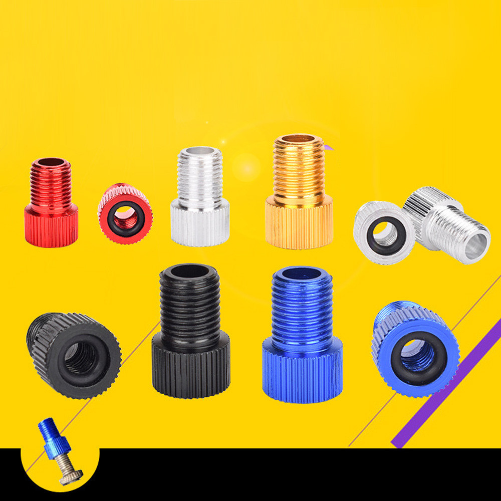 Practical Bicycle Cycling Bike Valve Adaptor Pump Mouth Tool Cap Converter Cycling Accessories Valve Adapter Bicicleta *0.55