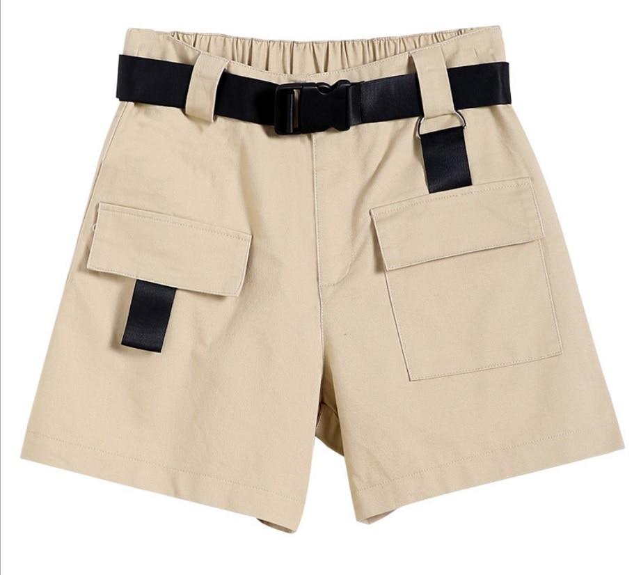 Cargo Shorts Women High Waist Shorts Woman Summer Streetwear Female Casual Harajuku Ladies Shorts Cotton Summer 2019