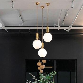 Modern Süt LED Küre Cam Kolye Işıkları Yemek Odası Bar Restoran Ev Dekor Mutfak Odası Topu Asılı Kolye Lamba Armatürleri