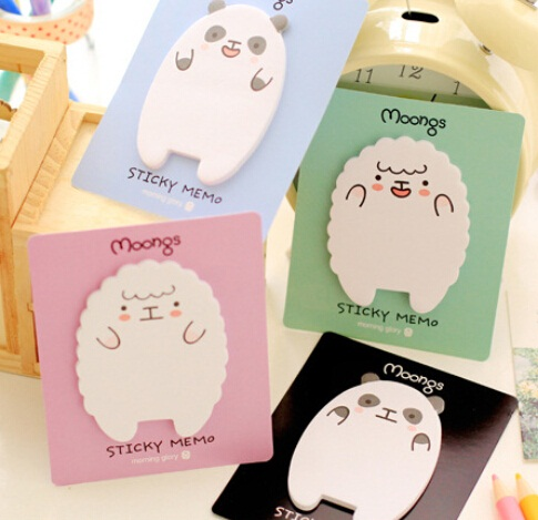 1pcs/lot Cartoon Moongs sticky notepad Memo message post stick marker zakka Stationery Canetas school supplies kids gift