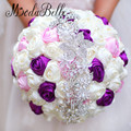 Pink Purple Wedding Bouquets Brooch Royal Blue Red Bridal Crystal Bouquet Bling Elegant Bride Holding Flower Pearl Bouquet