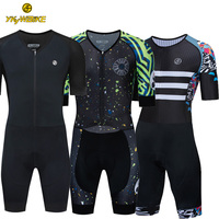 Pro Cycling Jersey Set 2019 Triathlon Suit One Piece Men Short Sleeve Skinsuit Jumpsuit Maillot Bike Bicycle Cycling Clothing