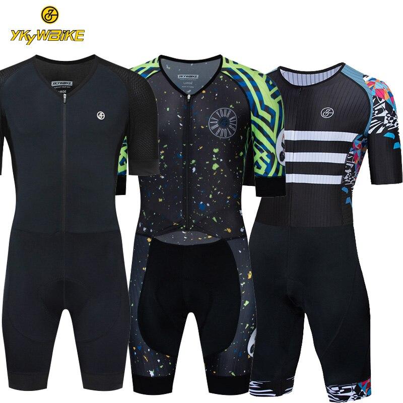 Pro Maillot de cyclisme ensemble 2019 Triathlon costume une pièce hommes manches courtes combinaison Maillot de bain vélo vélo vêtements de cyclisme