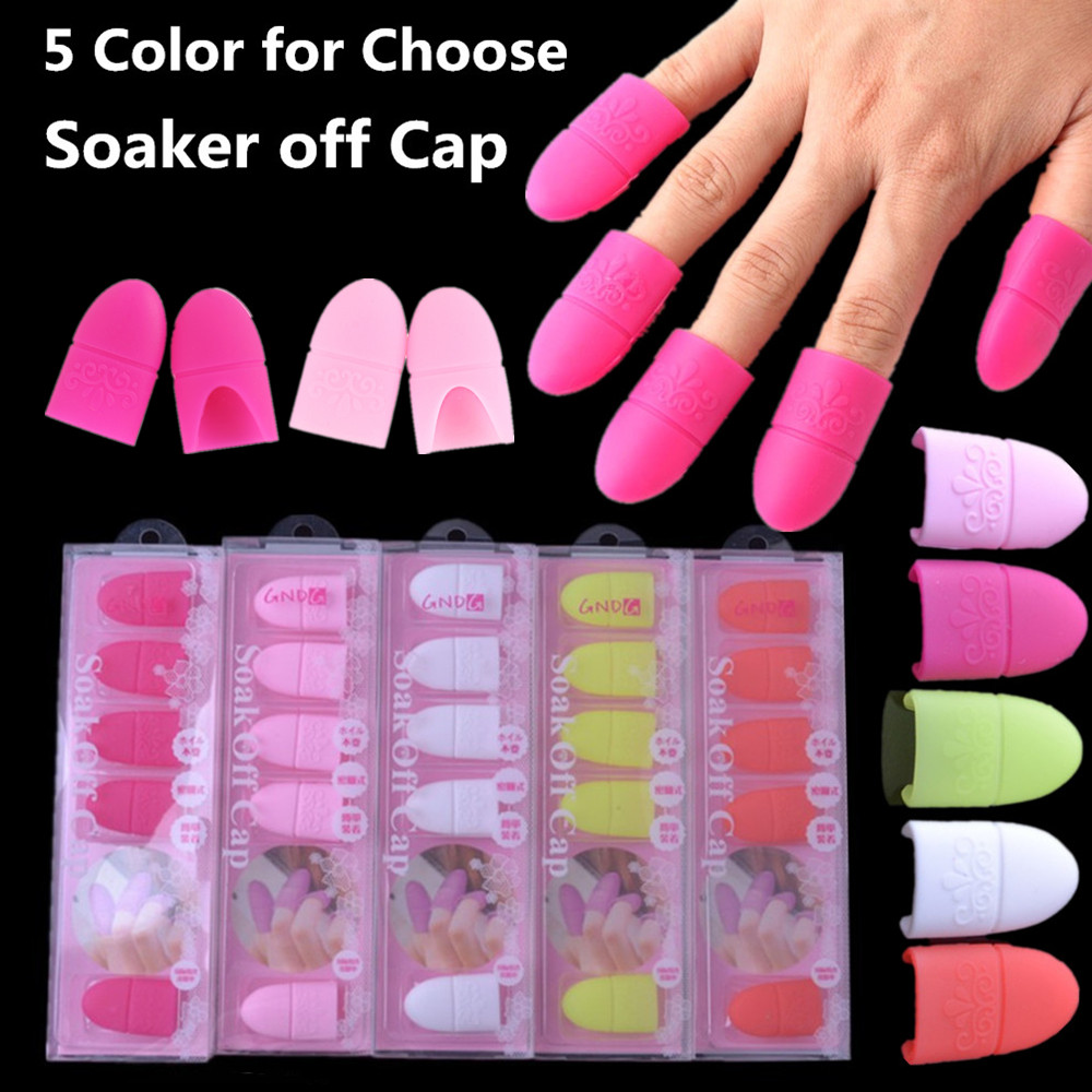 Beauty & Health 5pcs Nail Art Tips Uv Gel Polish Remover Wrap Silicone Elastic Soak Off Cap Clip Manicure Cleaning Varnish Tool Nails Art & Tools