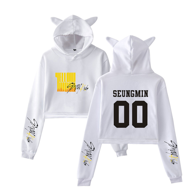 STRAY KIDS YELLOW WOOD EAR HOODIE (36 VARIAN)