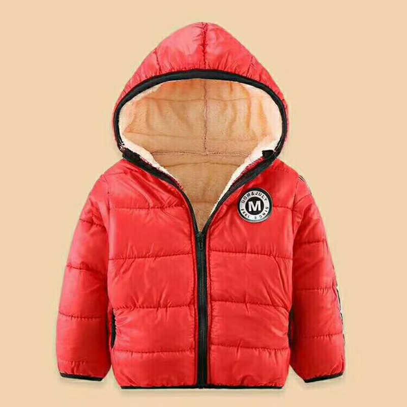 Baby Jacket For Winter Autumn Kids Boys Girls Coat With Fleece Fur Children Warm Outerwear Infant Boy hoodies Snowsuit 4 years