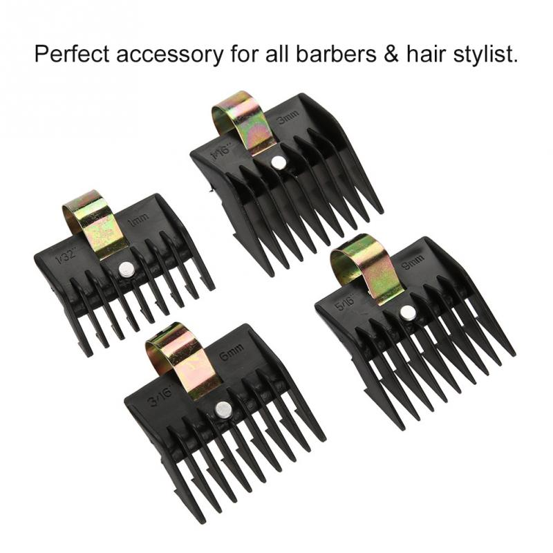 4Pcs/Set Universal Hook Limit Comb Trimmer Clipper Attachment Guide Comb Barber Styling For Electric Hair Clipper Shaver 4 Sizes