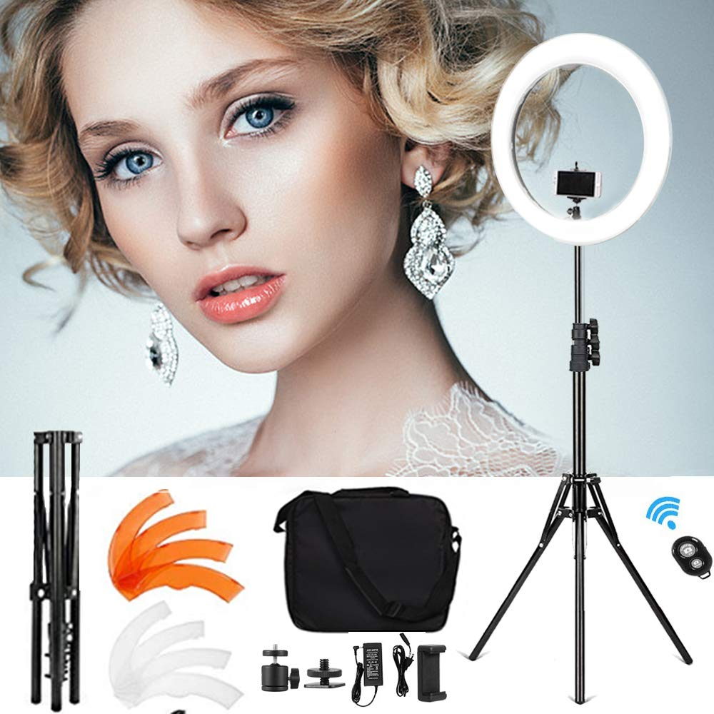 Selens Ring Light 18 48cm Dimmable Led 55W 5500K Lighting Kit with Stand Phone Holder Carrying