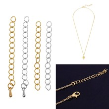"10 PC Ouro Sliver 2 ""Colar Pulseira Cauda Prolongado Chains Descobertas Jóias DIY(China)"