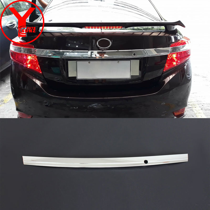 chrome tailgate cover For Toyota Vios 2014 2015 2016 tailgate molding exterior car styling part accessories for vios 2016 YCSUNZ