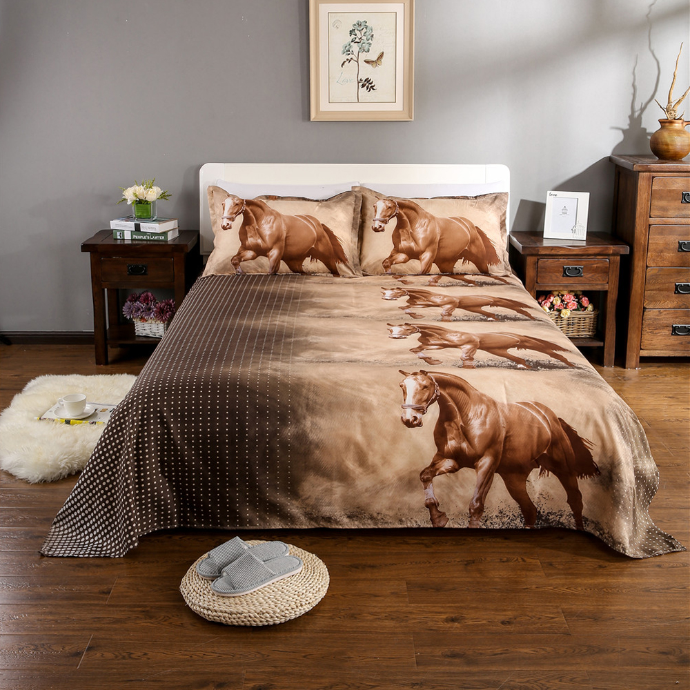 3D Bedding Set Animal Tiger Leopard Horse Print Duvet Cover Bed Sheets Cover King Queen Pillowcase Bed Linens Home Textile D20