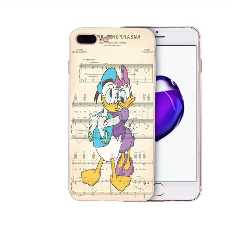 Soft silicone phone case for iphone x xs xr xsmax 8 7 6s 6 plus 5 5s se Donald Fauntleroy Duck family TPU cartoon cover shell in Half wrapped Cases from Cellphones Telecommunications