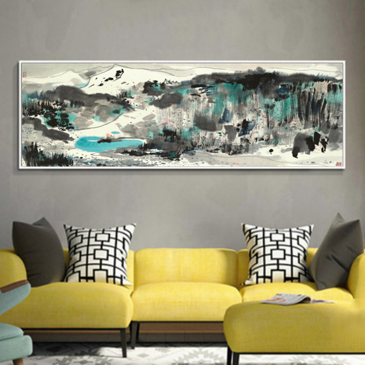 Wu Guanzhong kinesiska bläckmålning HD-utskrifter på Canvas Wall - Heminredning - Foto 3