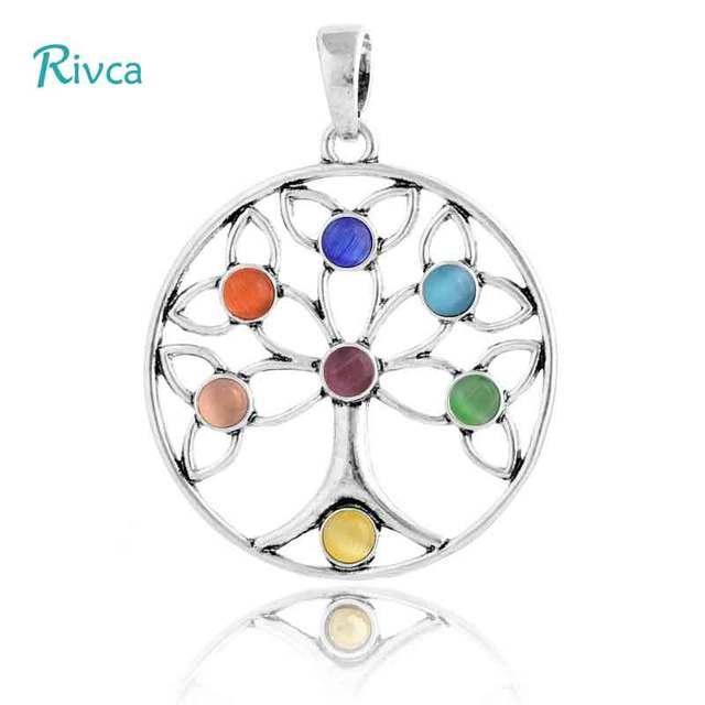 rivca natuurlijke kristal 7 chakra stone ketting voor vrouwen