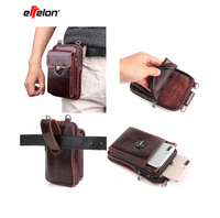 Universal Mobile Phone Bags Belt Bag Men for Samsung Galaxy S9 S8 Plus Note 8 Leather Waist Packs for iPhone 7 8 6 6s plus X