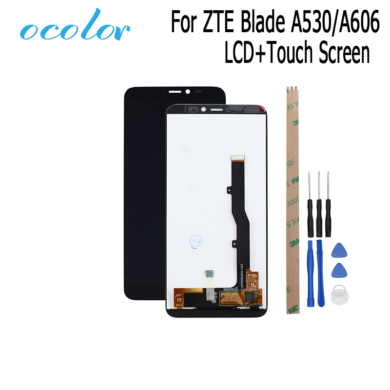 ocolor For ZTE Blade A530 A606 LCD Display and Touch Screen Digitizer Assembly Replacement With Tools For ZTE Blad A606 A530Mobile Phone LCD Screens   -