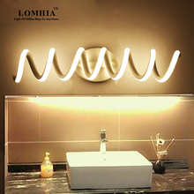 buy Modern spiral LED mirror light wall lamp Sconce bathroom metal Ac90-260v Light Fixture Wall lights vanity lighting new,image LED lamps offers