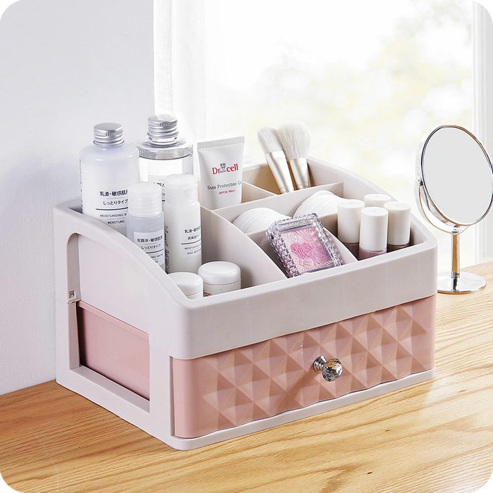 Desktop cosmetics storage box European drawer type dressing table jewelry skin c