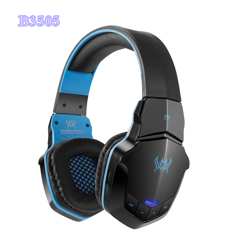 KOTION EACH B3505 Wireless Bluetooth 4.1 Stereo Game Headset Headband Gaming Headphone with Mic for PC Gamer Casque Audifonos kotion each g9000 7 1 surround sound gaming headphone game stereo headset with mic led light headband for ps4 pc tablet phone