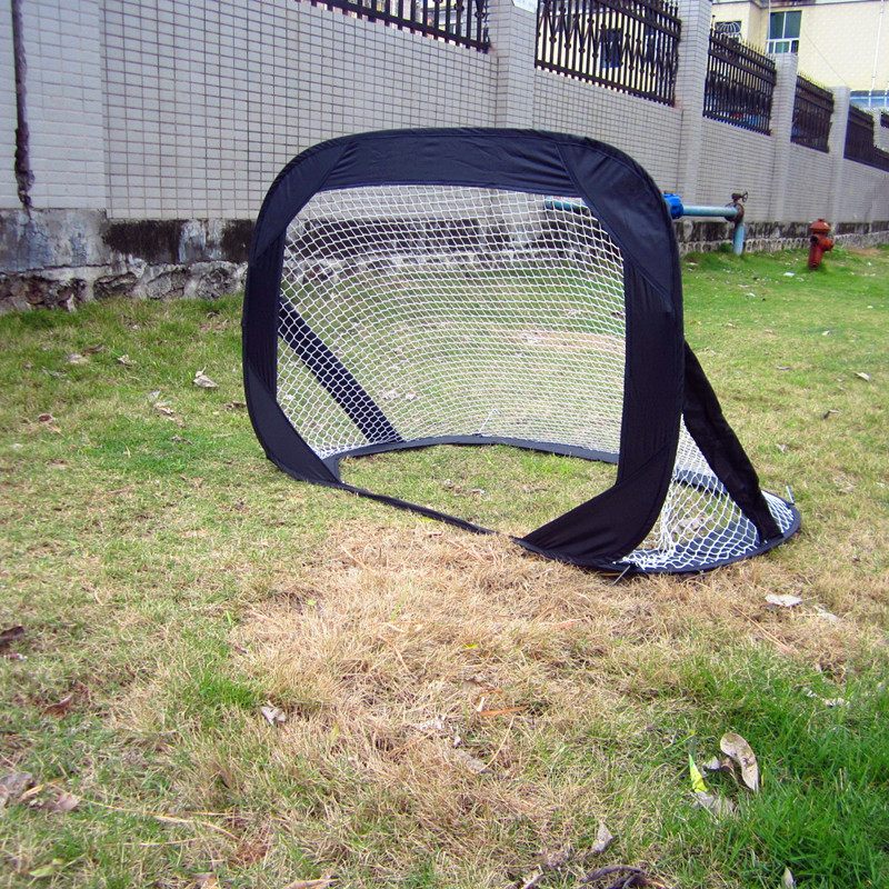 but fold portable small door children game goal net framework world cup soccer fans sports