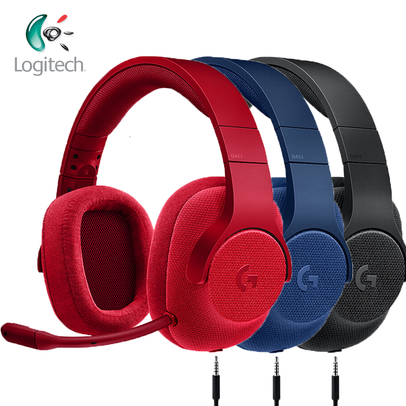 Logitech G433 Gaming Headphones 7 1 Surround for All Gamer Wired Headsets with MIC for PC