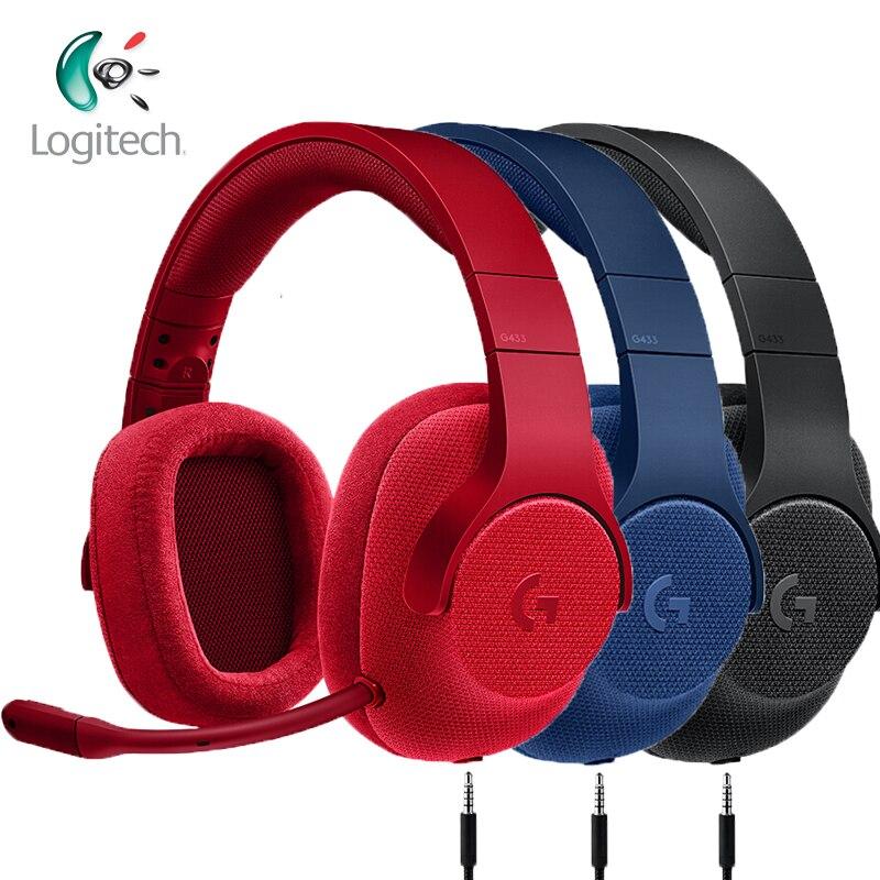 Logitech G433 casque de jeu 7.1 Surround pour tous les casques d'écoute filaire Gamer avec micro pour PC PS4 Xbox One Nintendo Switch VR PC