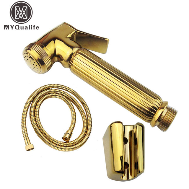 Goldene Messing Bidet Kopf Handheld Sprayer Bad Wc Bidet Duschkopf