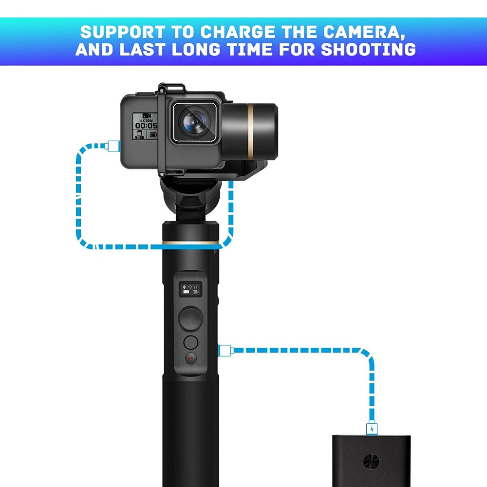 Image 2 - FeiyuTech G6 Splash Proof Handheld Gimbal Tripod Action Camera Stabilizer Bluetooth & Wifi for Gopro Hero 7 6 5 Sony RX0 Feiyu-in Handheld Gimbals from Consumer Electronics
