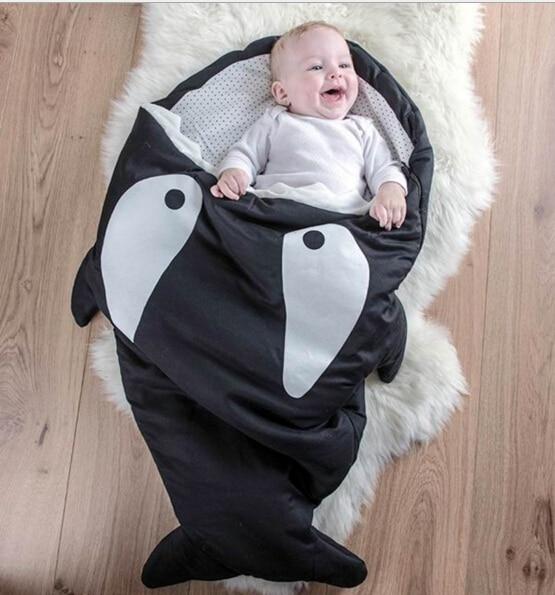 kid Infant Autumn Winter Thicken Cotton sleep bag infant shark Sleeping bag Baby child sleeping bag