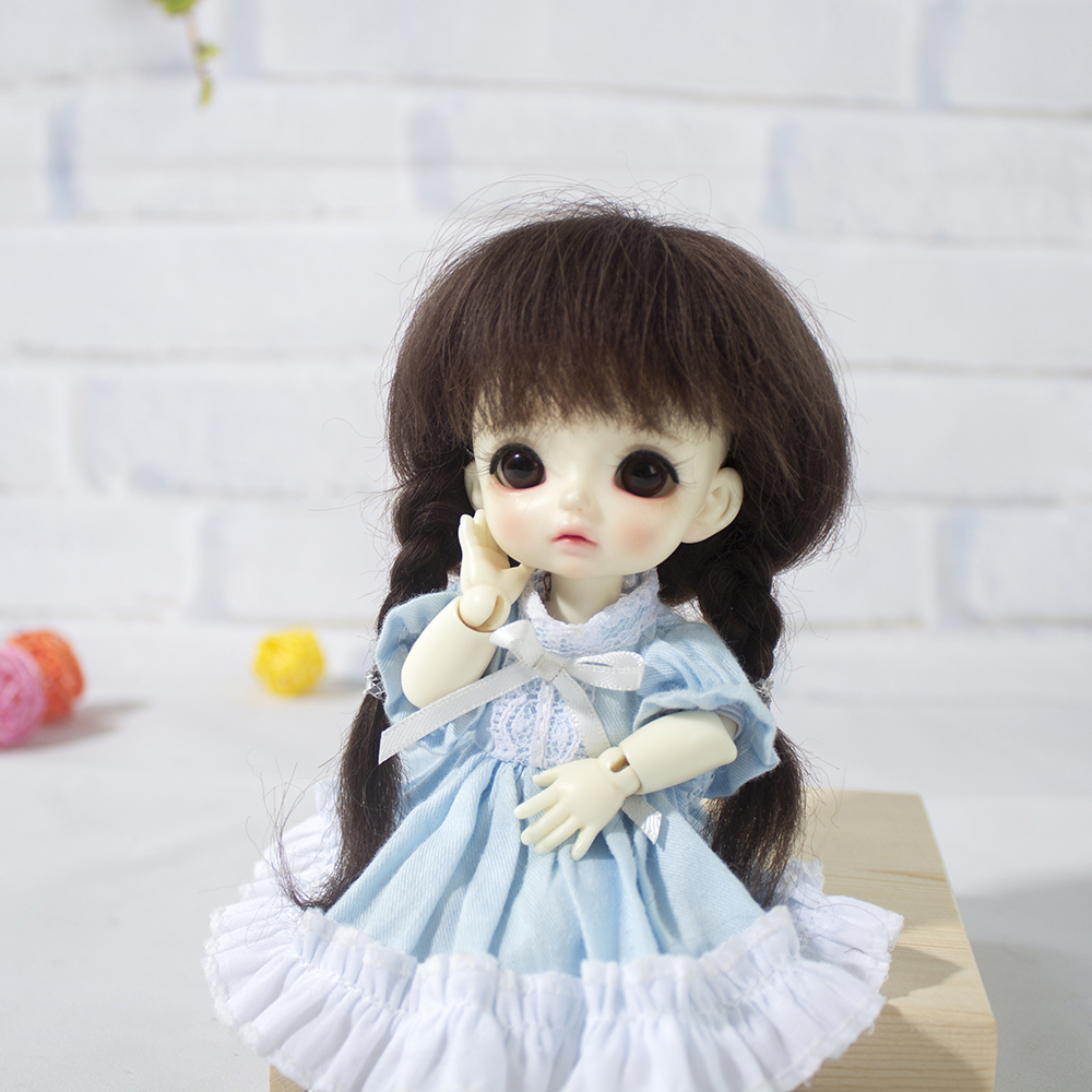 Muziwig  1/8 Fashion BJD Synthetic Mohair Doll Wigs Cute Updo Doll Hair Size 3-4inch 5-6inch Wig Doll Accessories
