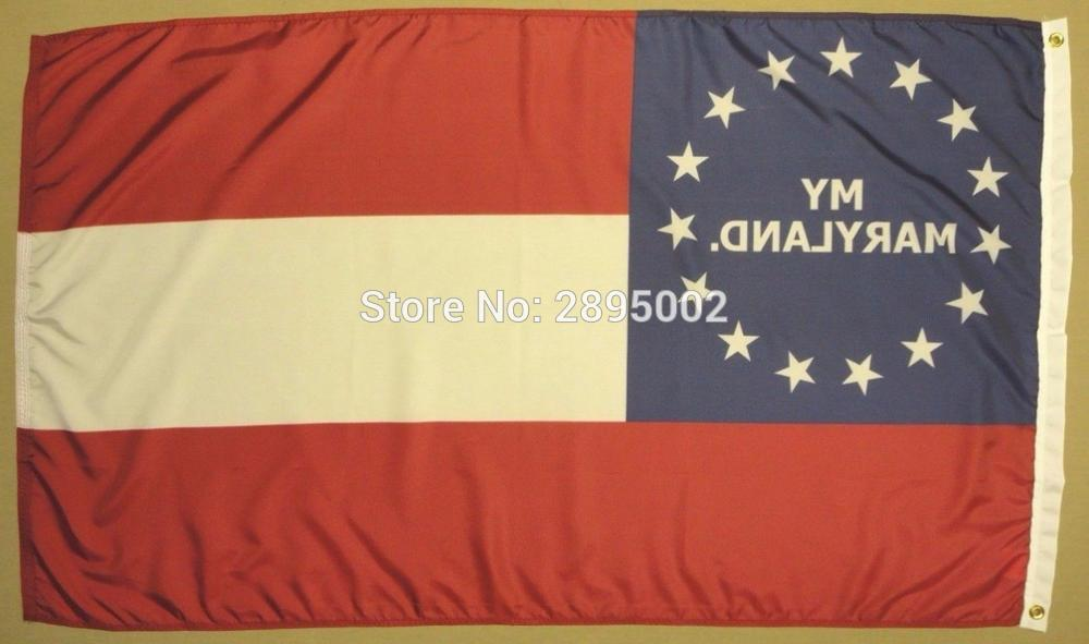 1st Maryland MD Infantry Reg Indoor Outdoor Historical Dyed Nylon Flag 1