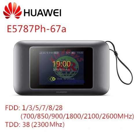 נעילת Huawei E5787 E5787PH-67A נייד WiFi Hotspot תמיכת מכשיר LTE חתול 6 4G mifi עם כרטיס ה-sim חריץ 4g lte נתב תעשייתי