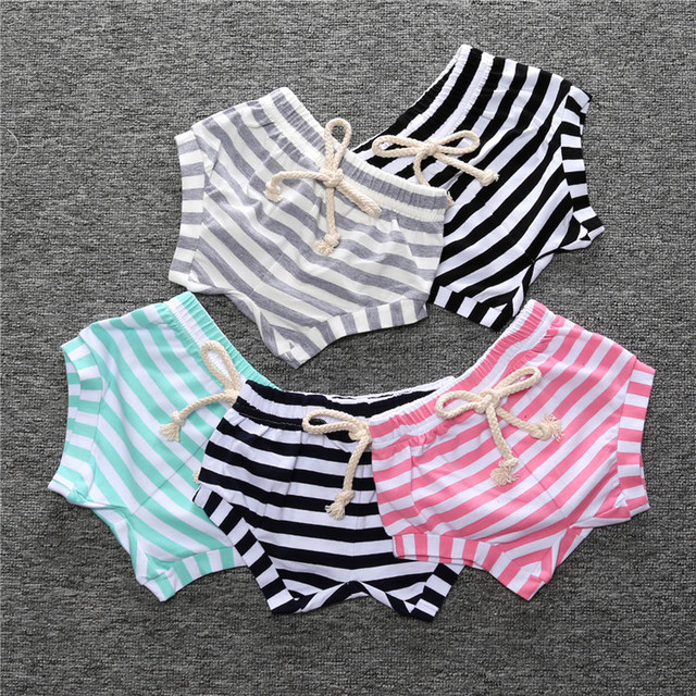 Baby shorts kids panties cotton short pants striped boys girls pants Infant Toddler pp pants for summer boy girl clothes 0-4t