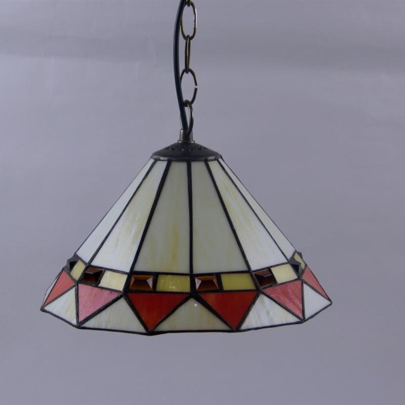 Işıklar ve Aydınlatma'ten Kolye ışıkları'de Avrupa Modern Akdeniz Yaratıcı Tiffany Vitray yatak odası Anka Boncuk Barok Oturma odası Avize title=